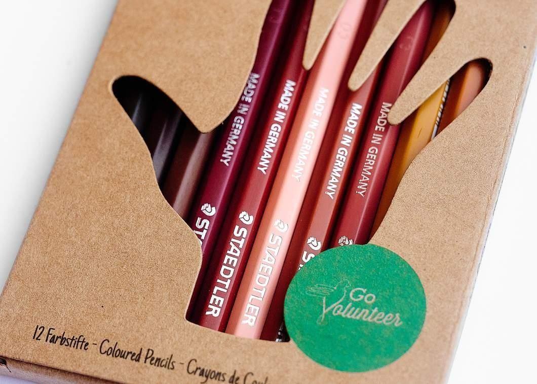 Hautfarben-Buntstifte - So bunt ist unsere Welt (12er Set)