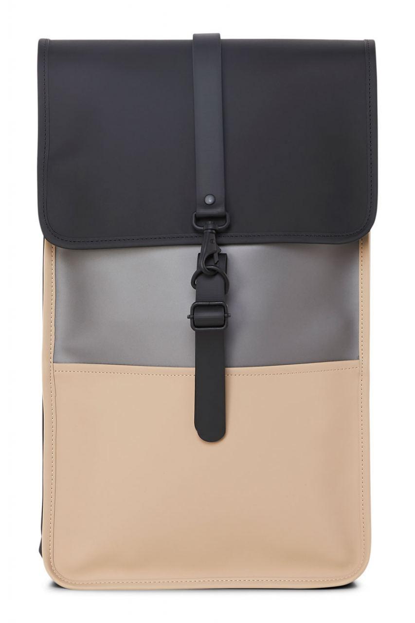 Color Block Rucksack Black Beige