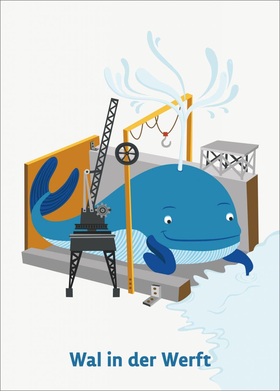 Wal in der Werft Karte