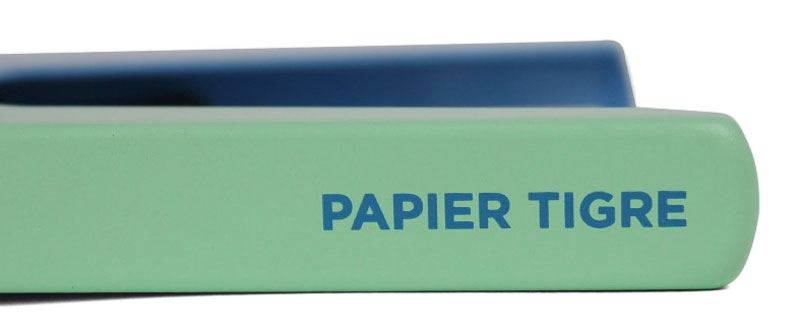 Papier Tigre Tacker Blau Grün