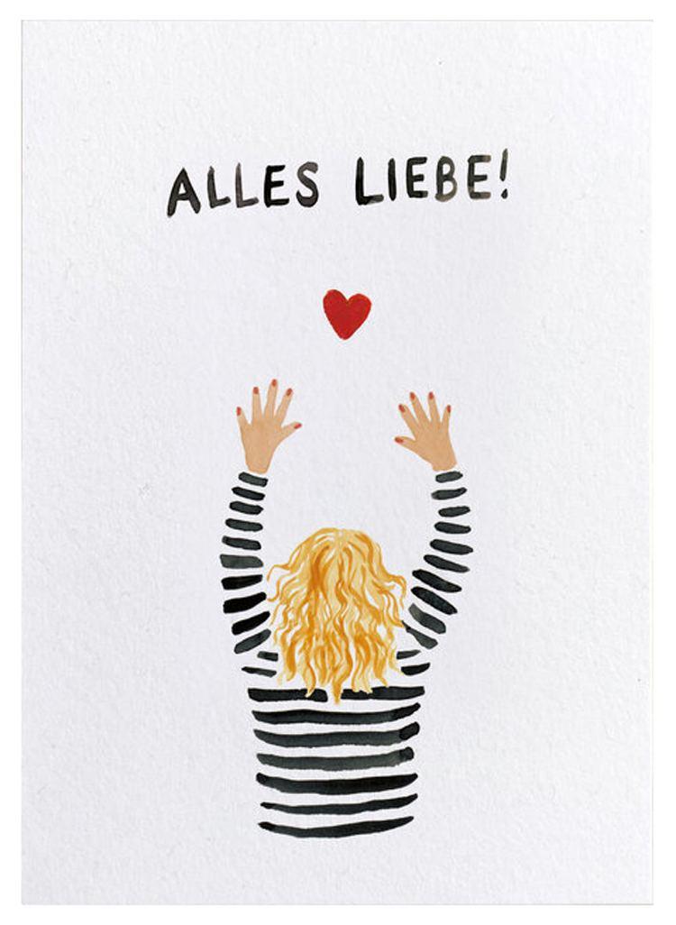 Alles Liebe! Postkarte
