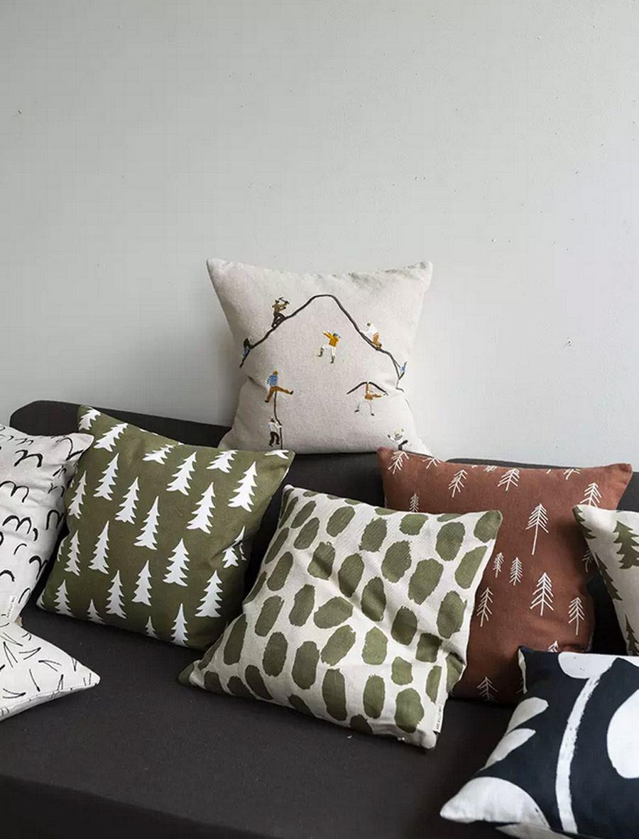 Kissen Gran Olive-White (50x50cm)