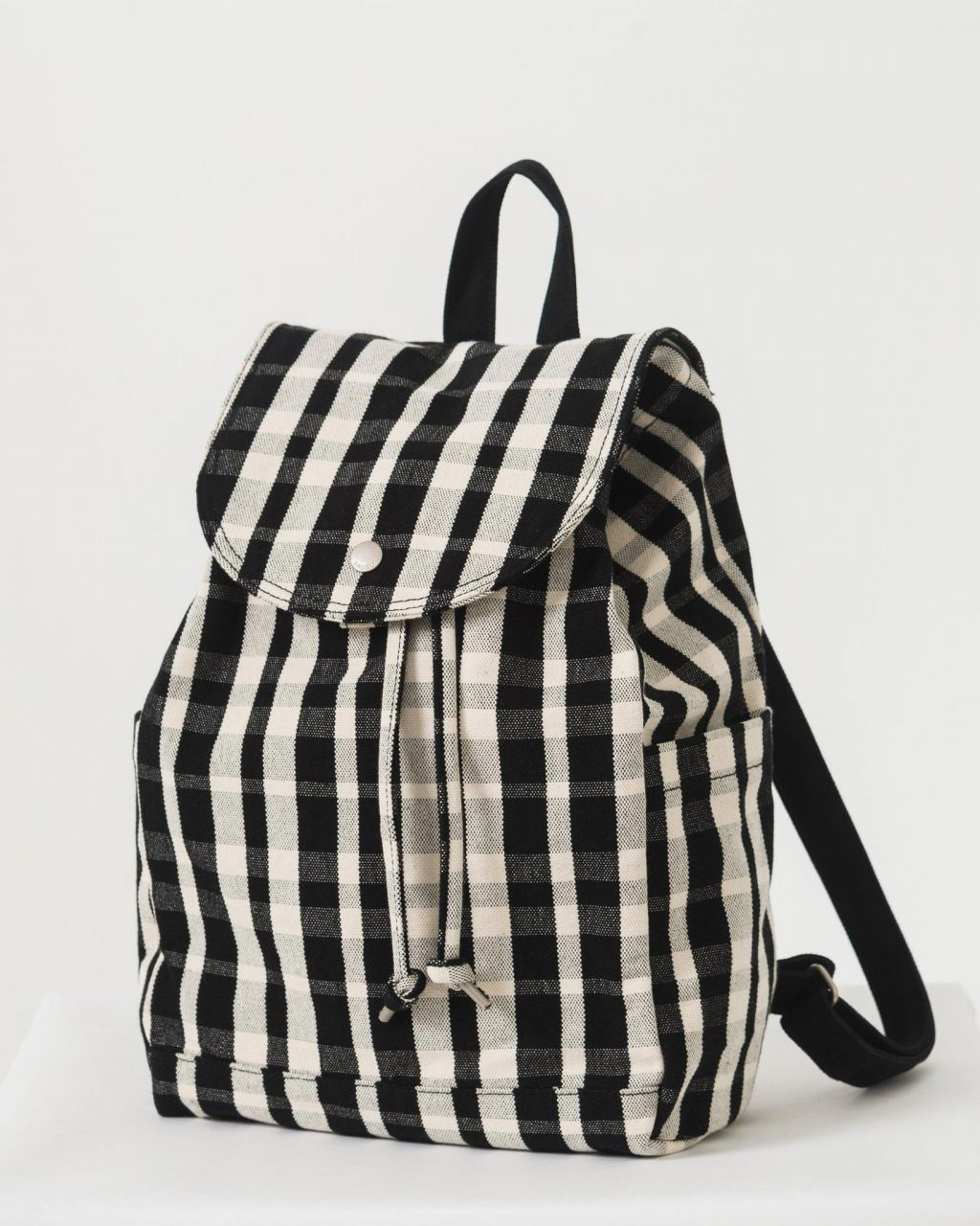 Drawstring Backpack Plaid