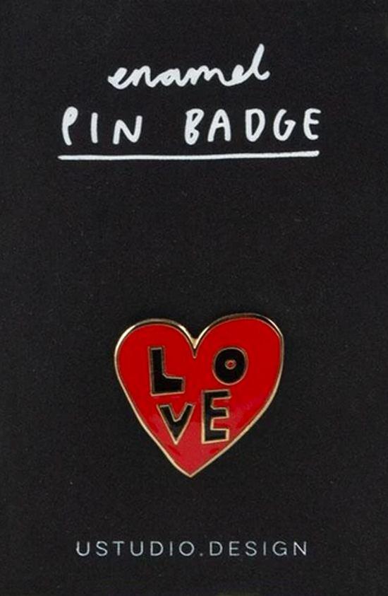 Love Heart Enamel Pin