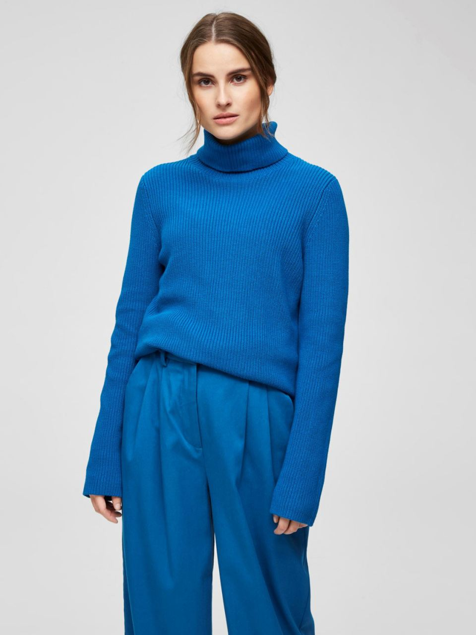 SLFELLIE LS KNIT Mykonos Blue