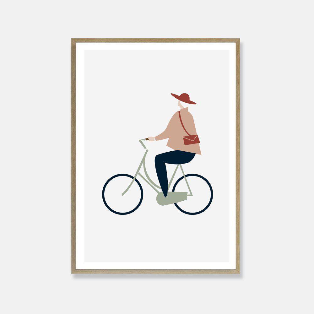 Cycling Lady Print (Din A4)