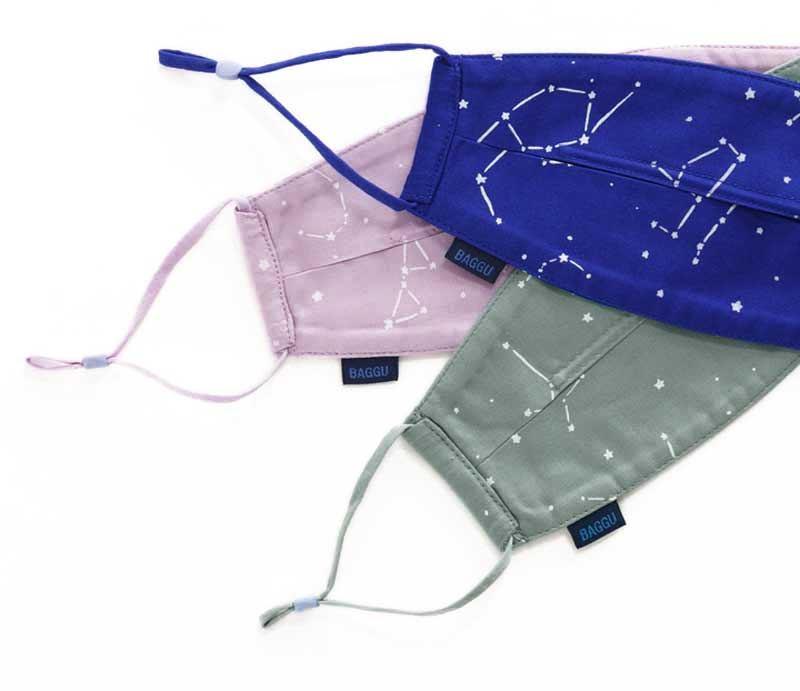 Baggu Mundschutz-Maske Constellation Loop 3er Set (Bio Baumwolle)
