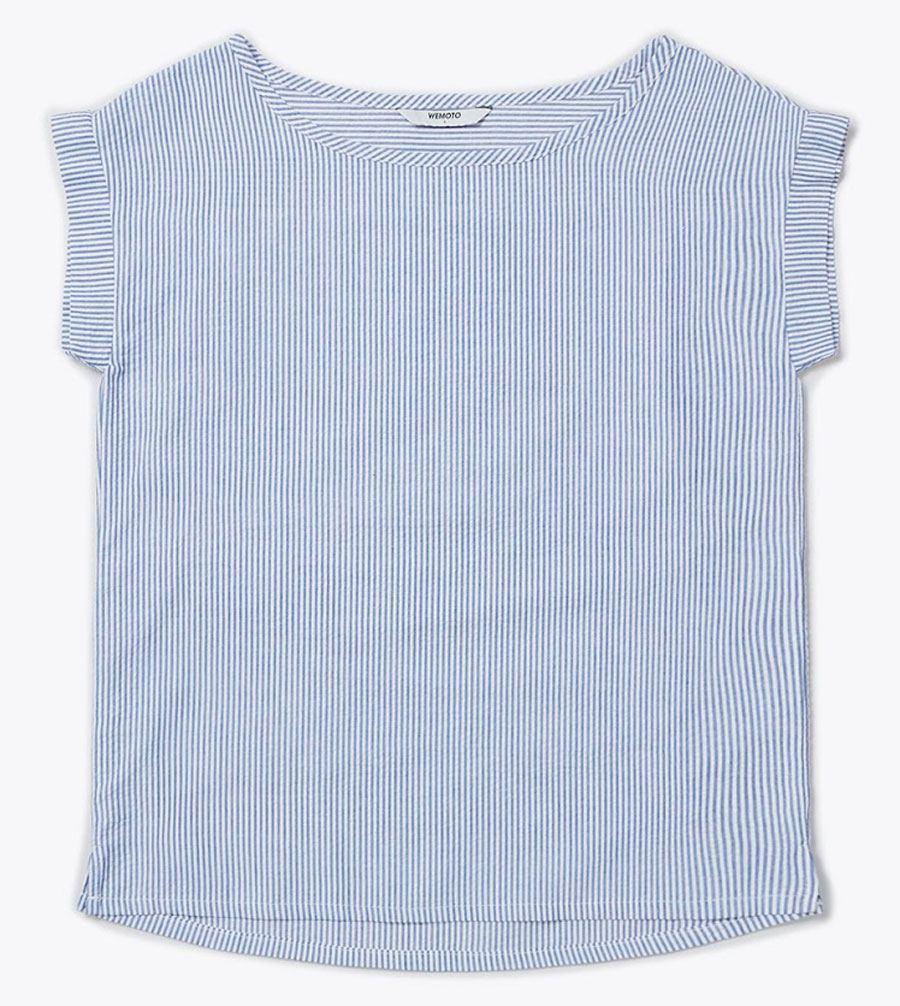 Nele Shirt Navy Blue White