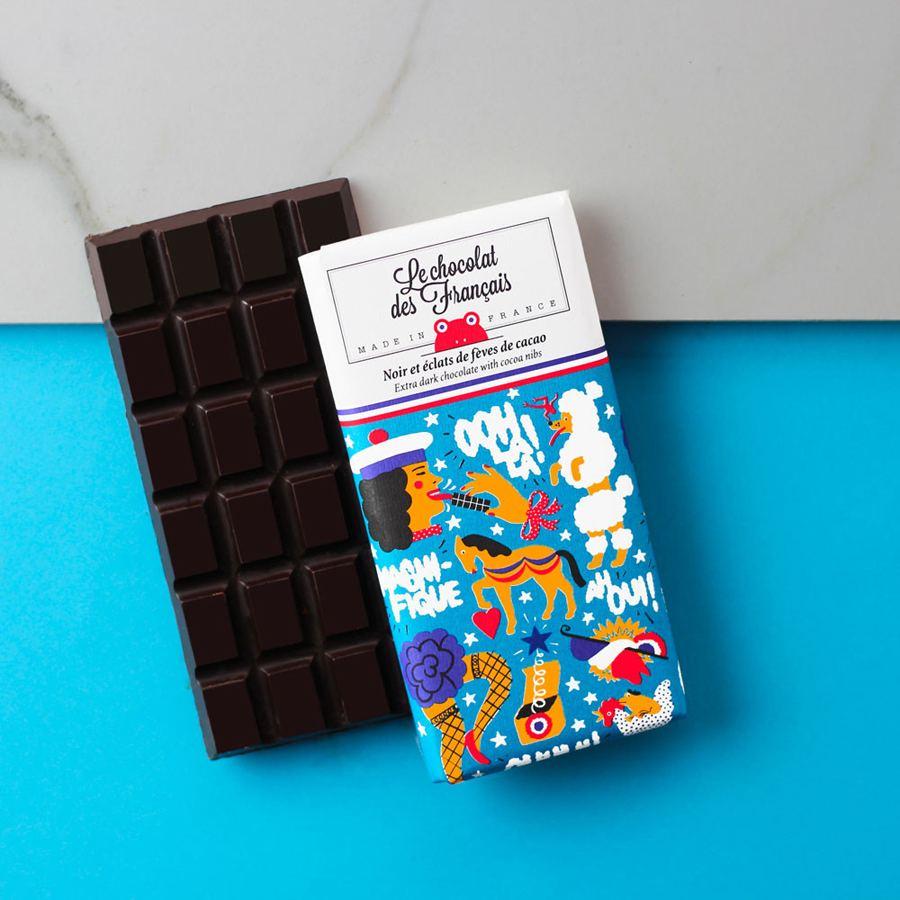 Le Panaché Dunkle Schokolade mit Kakaobohnen-Nips
