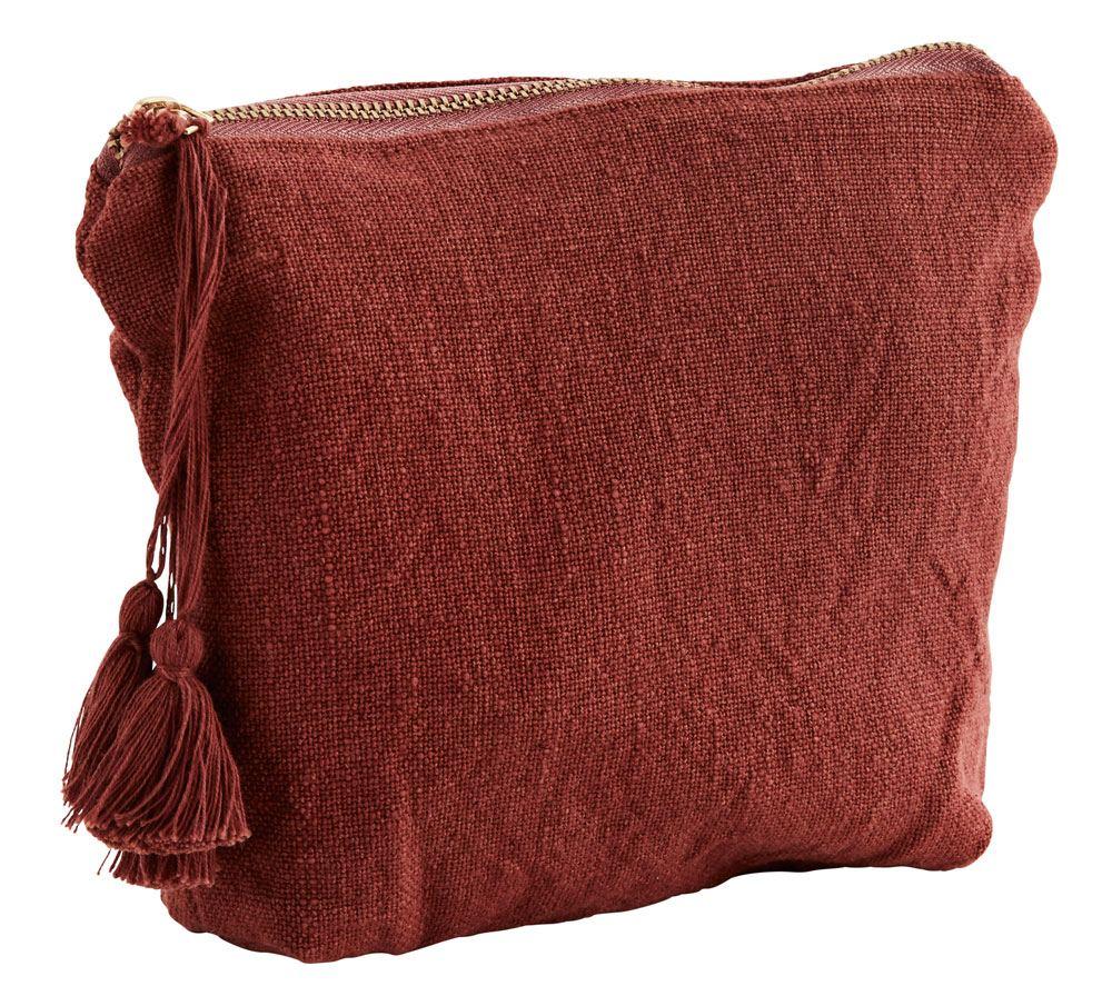 Baumwolltasche Tassel Brick Red
