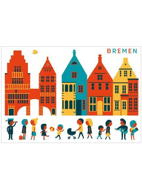 Bremen Altstadt Postkarte