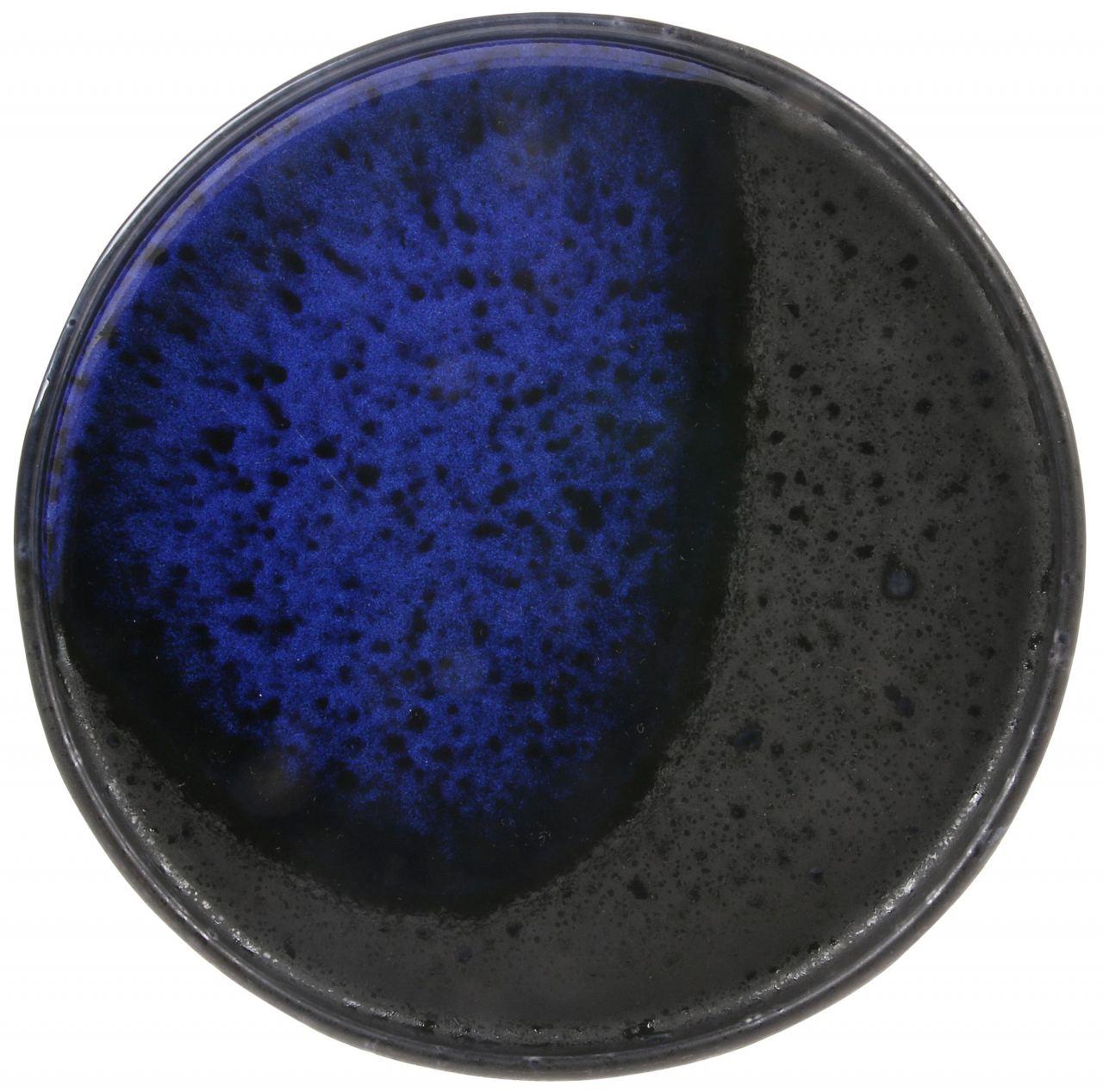 Bold & Basic Ceramics: Teller Kobalt Schwarz