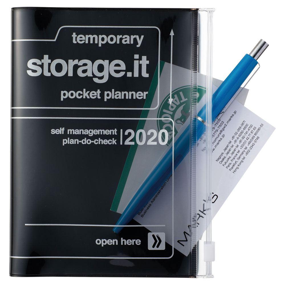 2020 Taschenkalender A6 Storage.it Black