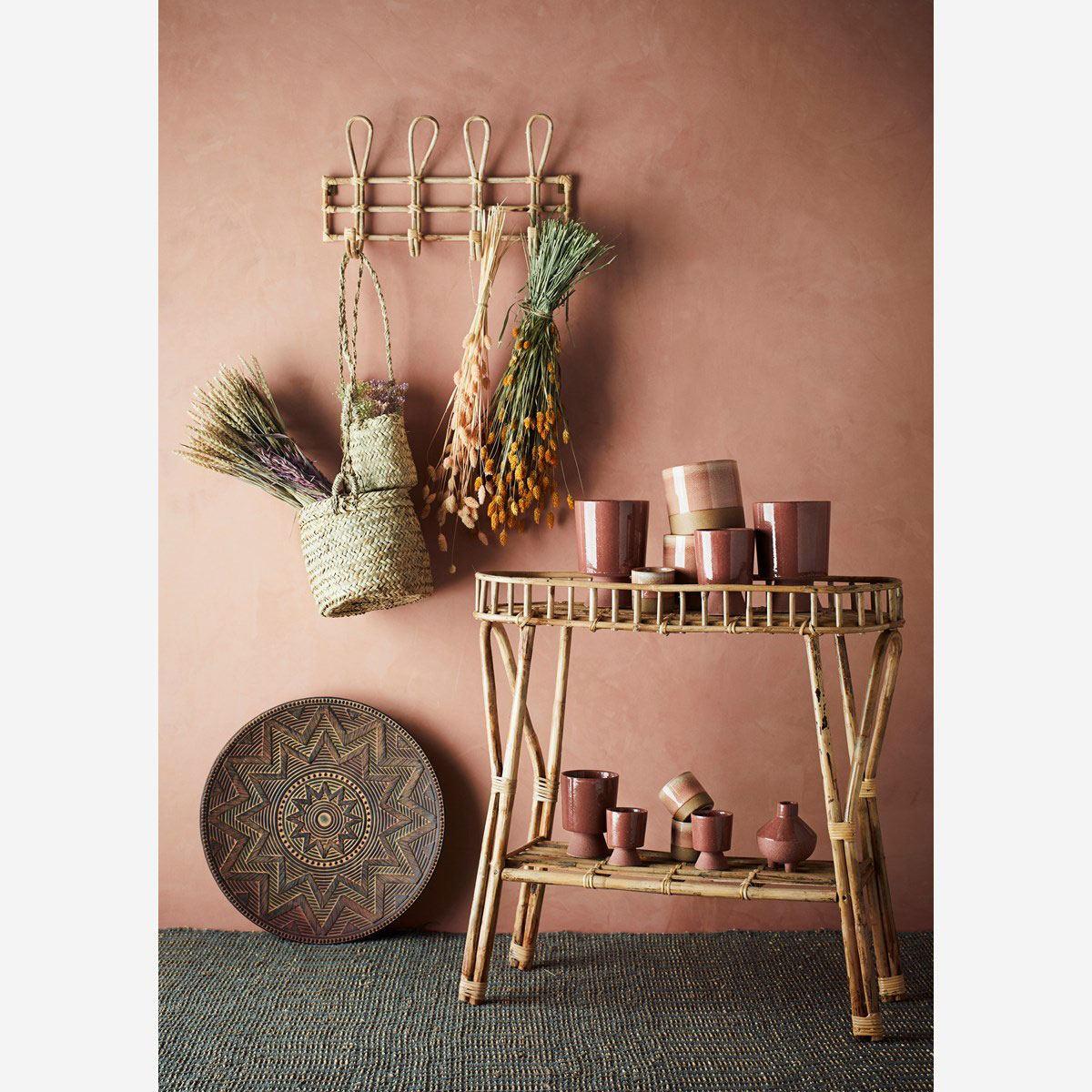 Vase Steinzeug Matt Sienna