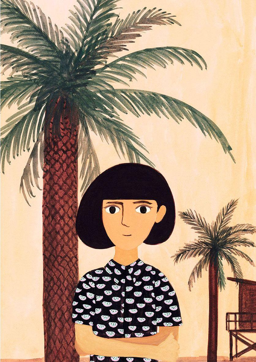 Tropical Girl Print (30x40cm)