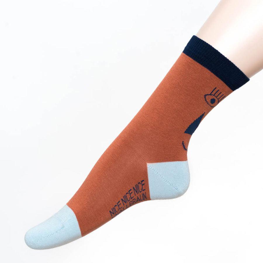 Friendly Socks Back Face Red