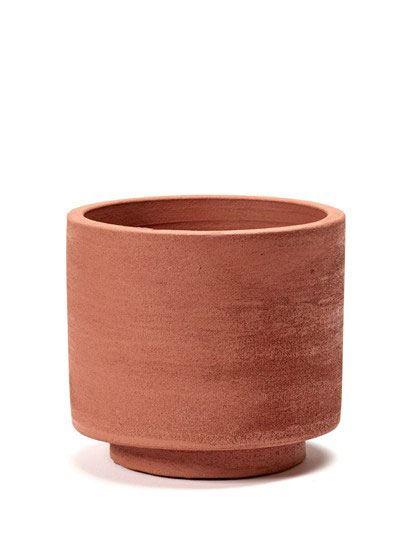 Topf Zylinder Rot D15 H13