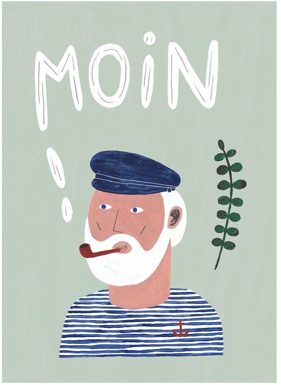 Moin Mint Postkarte