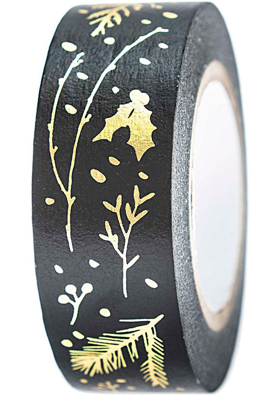 Tape Zweige Schwarz Gold