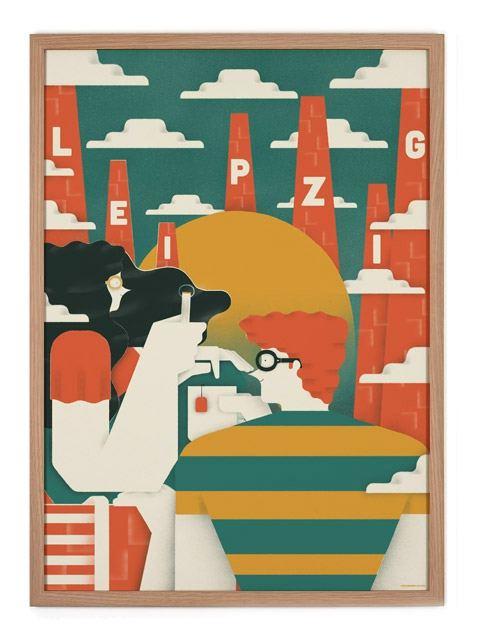 Leipzig Poster (50 x 70 cm)