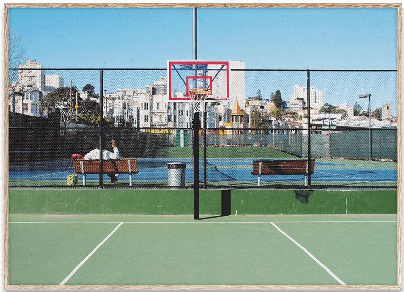Cities of Basketball (09) San Francisco Print (30x40cm)