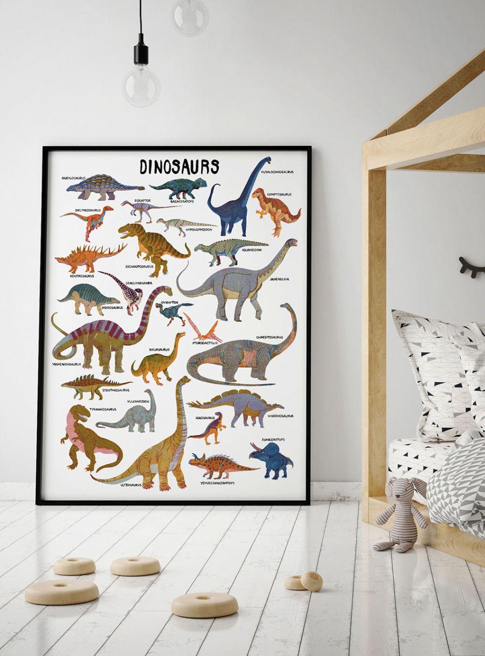 Dinosaurs Poster by Barbara Dziadosz (50 x 70 cm)