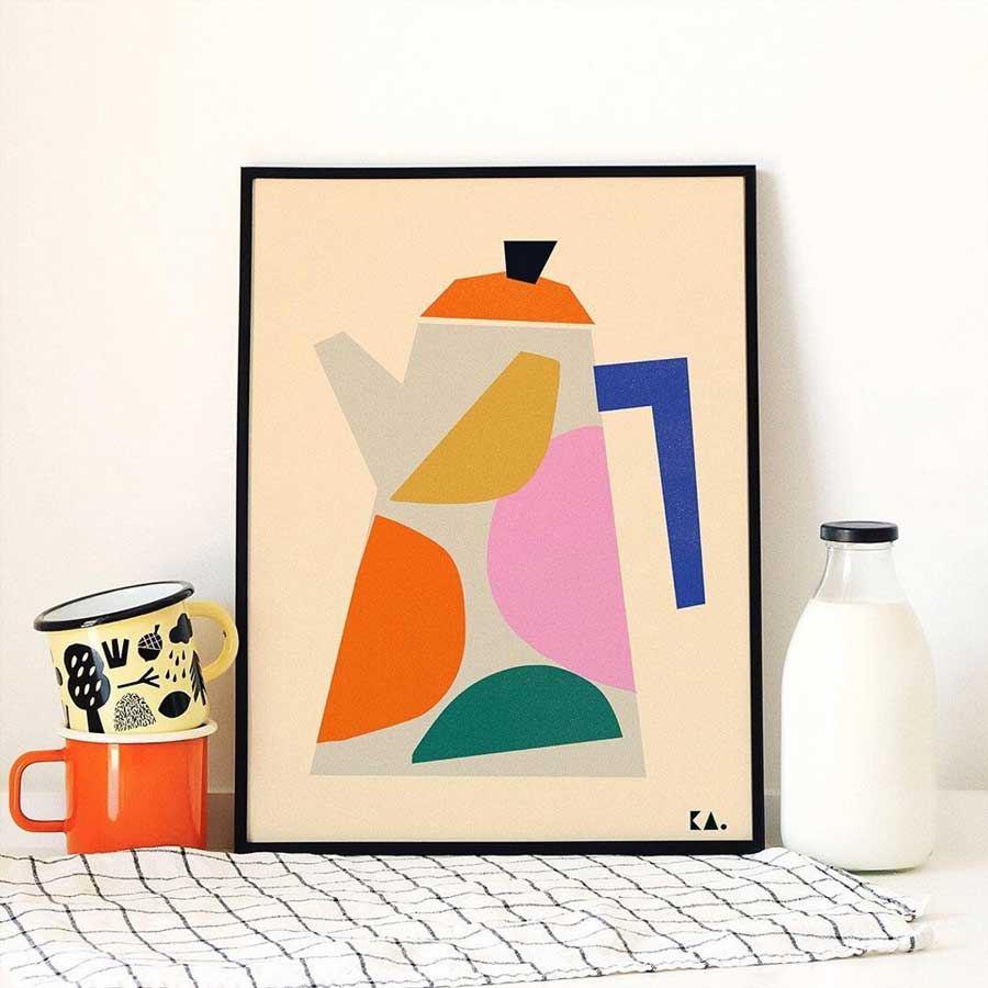 Coffee Pot Poster (50 x 70cm)