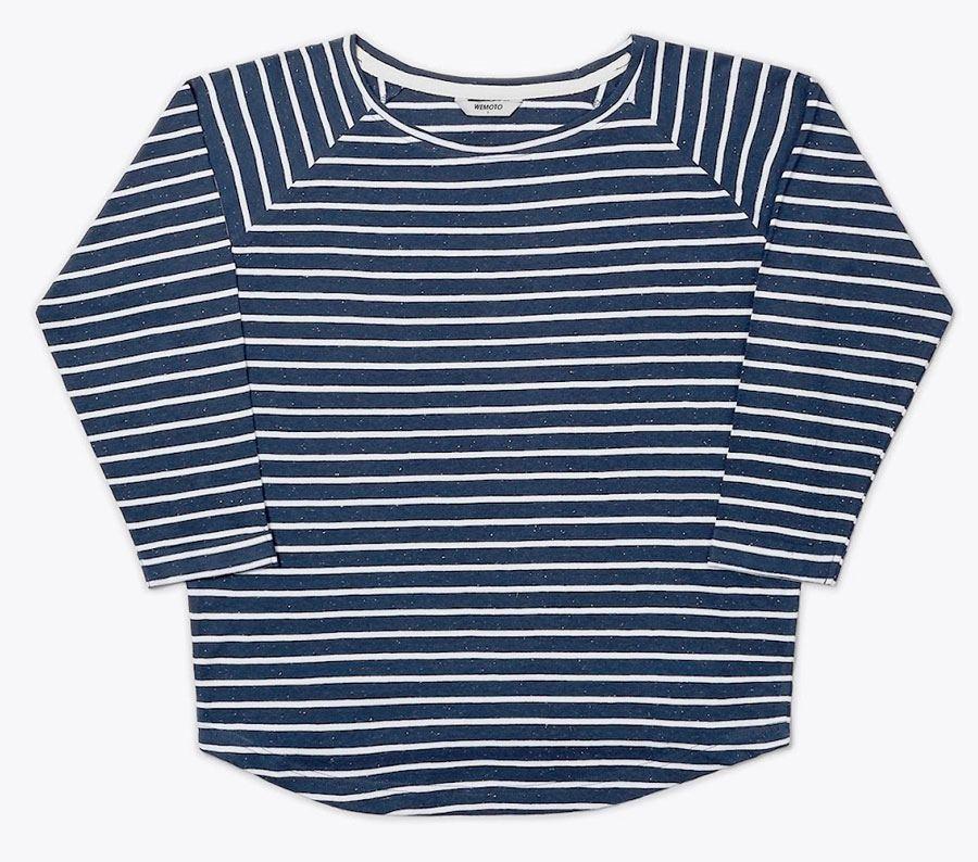 Shane Shirt Navy Blue Nep White