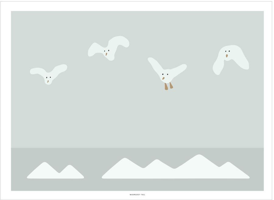 Flying Seagulls Poster (30x40cm)