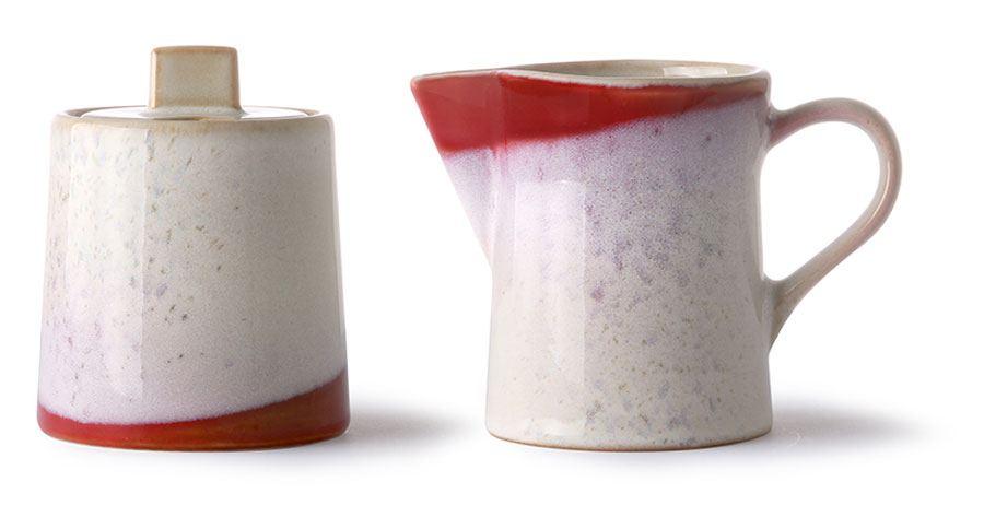 70's Milk Jug & Sugar Pot Frost