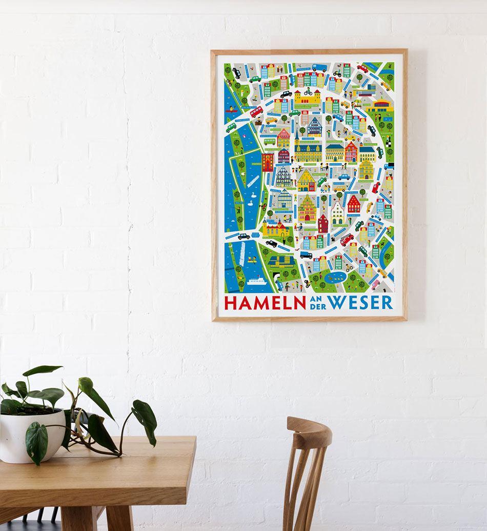 Hameln an der Weser Poster (50 x 70cm)
