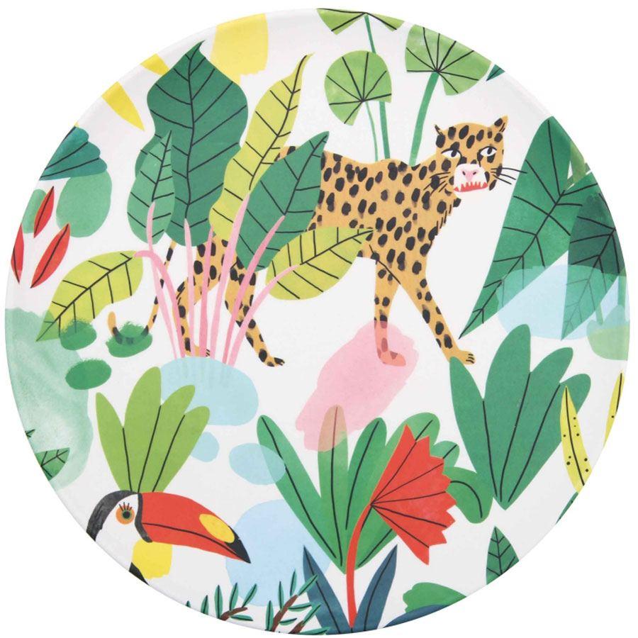 Bambus Teller Bodil Leopard