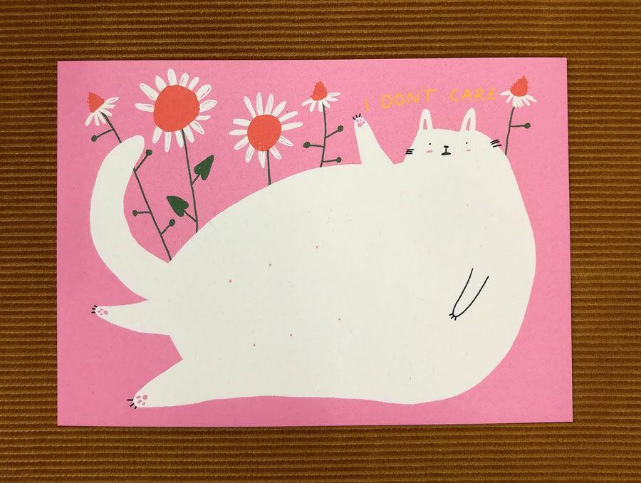 I don't care Postkarte