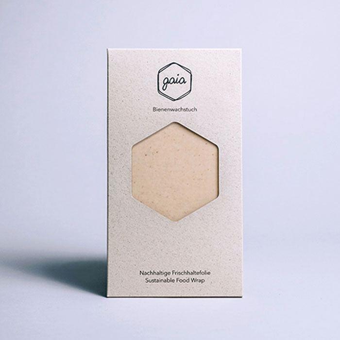Gaia Bienenwachstuch Starter-Set (S/M/L) - Natur