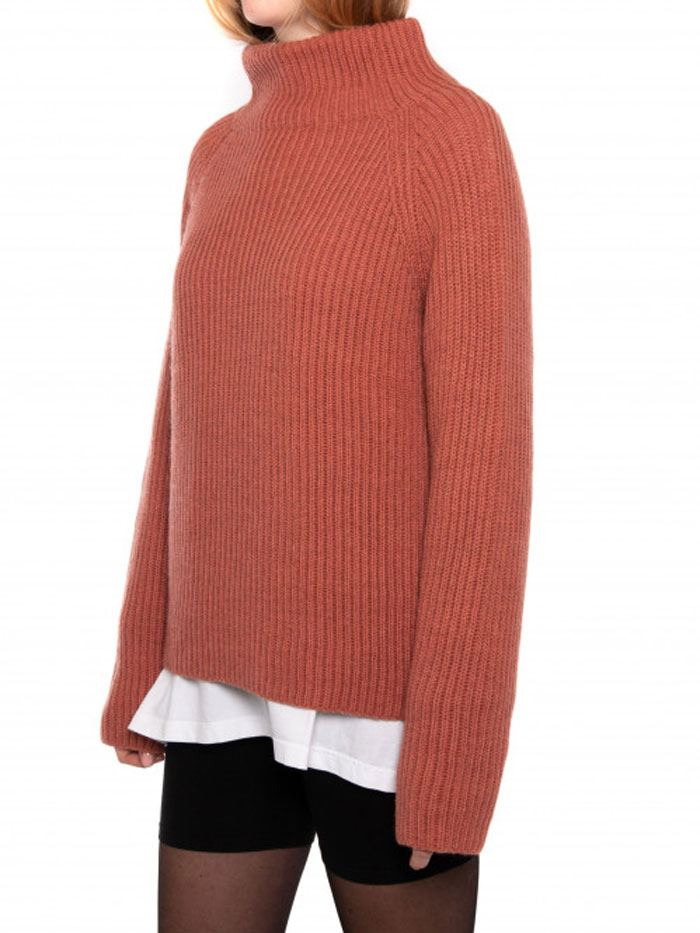 Eabha Strickpullover Brick Red