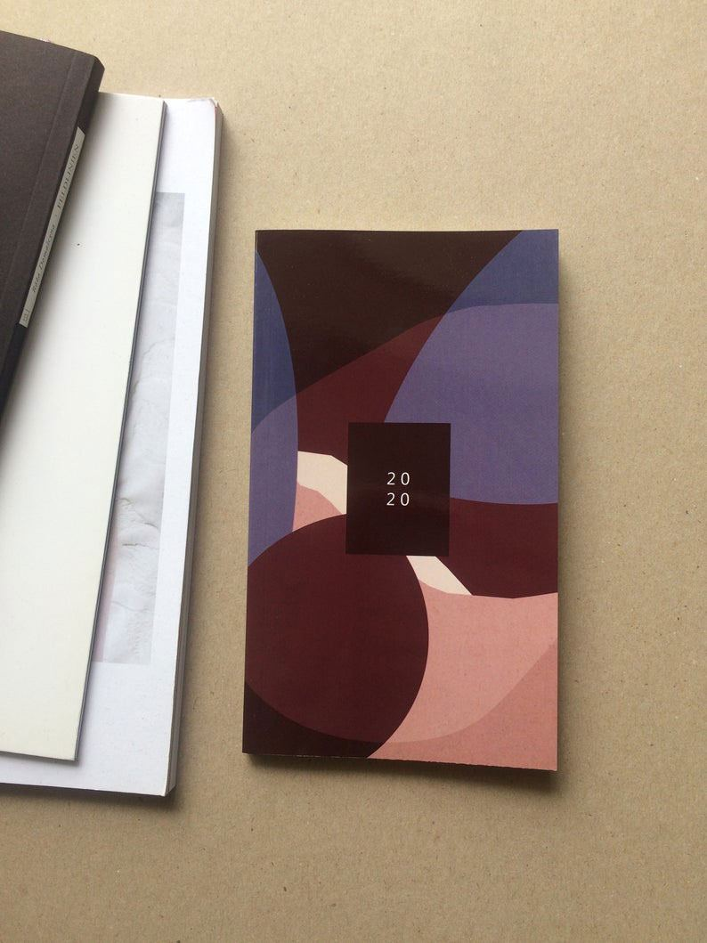 Softcover Planer 2020, 105x180mm