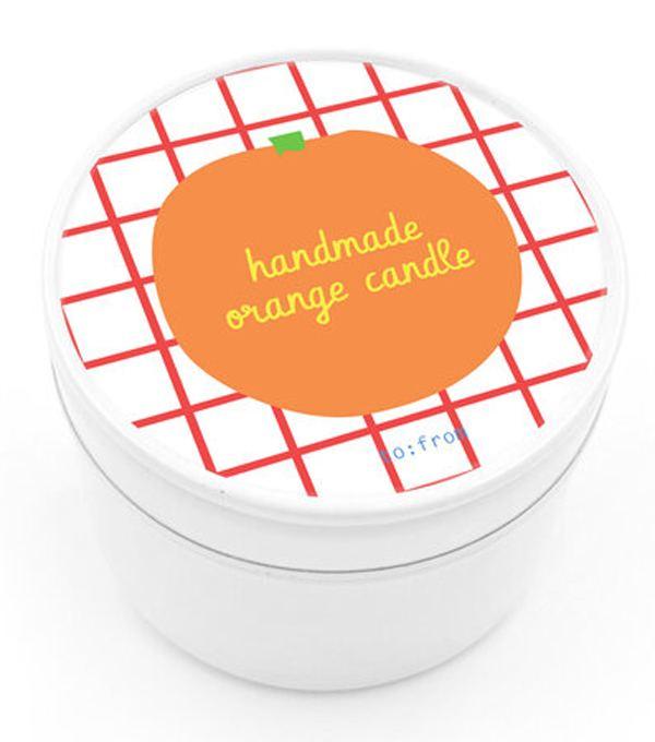 Handmade Orange Kerze