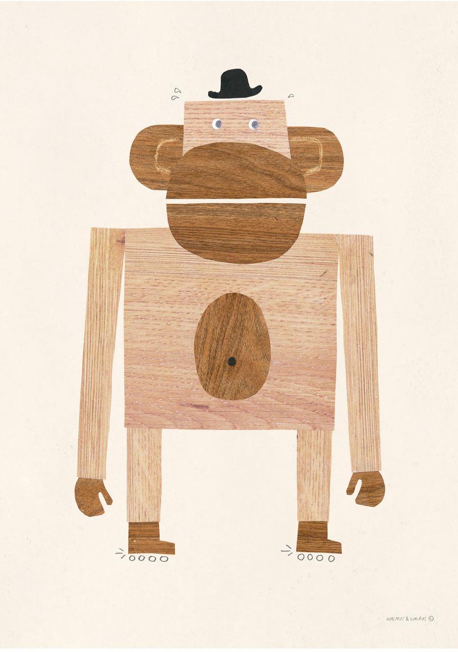 Monkey Poster (50x70cm)