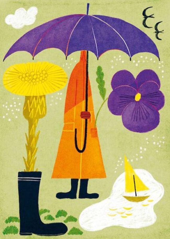 Violet Postkarte