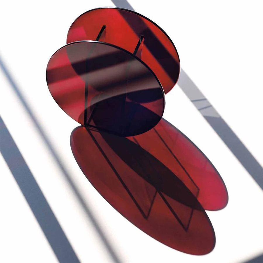 Vase Circle Red