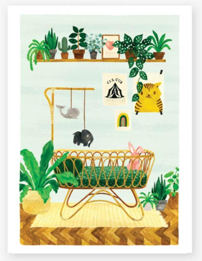 Baby Bedroom Print (29,7 x 39,7cm)