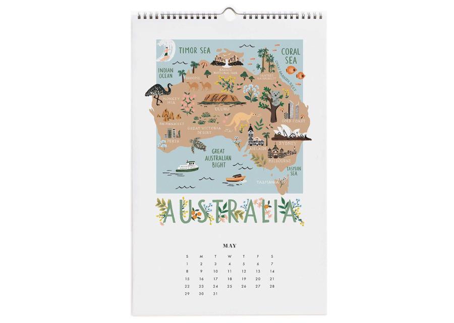 2022 World Traveler Wandkalender
