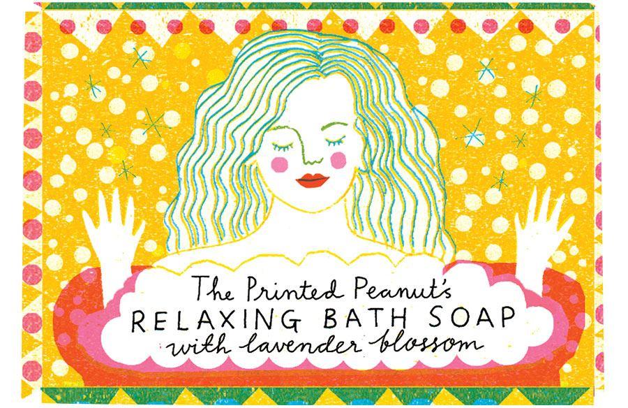 Bath Seife Lavendel Gelb