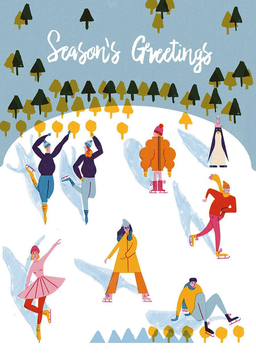 Season's Greetings Postkarte
