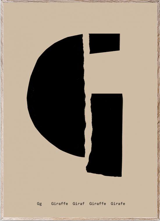 G - Alphabet Spaghetti Letter Print (Din A5)