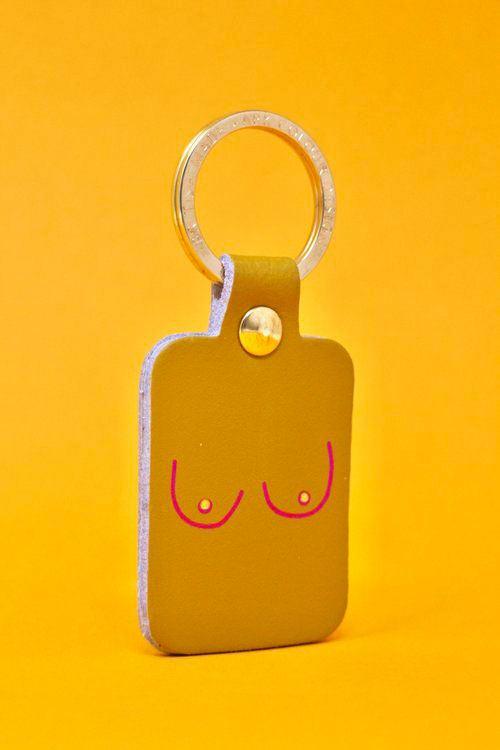 Boobs Schlüsselanhänger Ochre Yellow