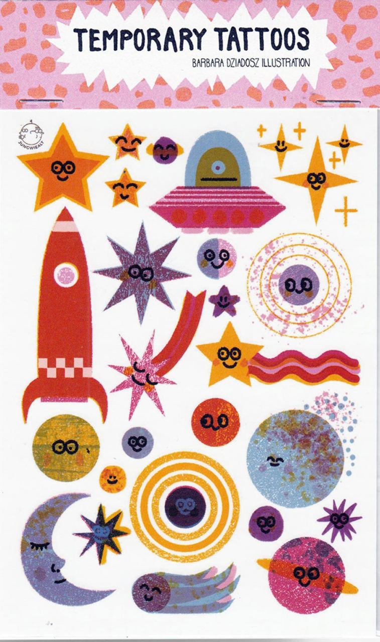 Outer Space Temporary Tattoos