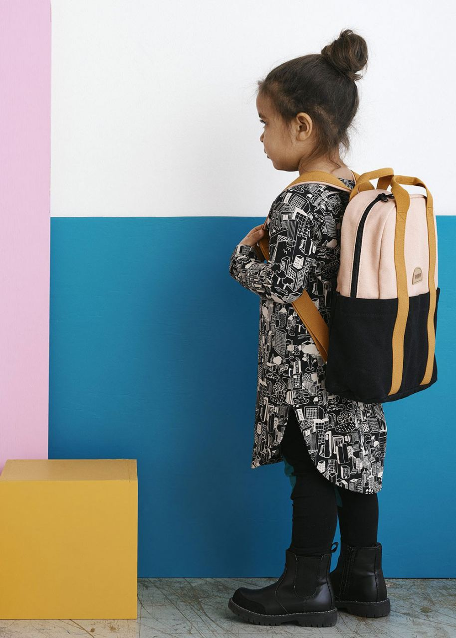 Mini Kivi Backpack Powder Peach/Black/Ochre
