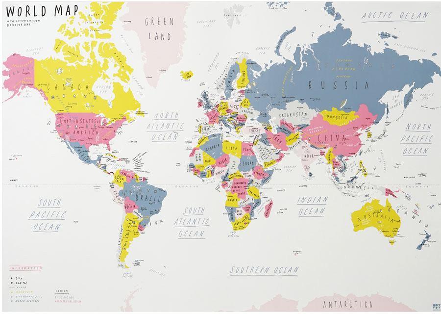 World Map White