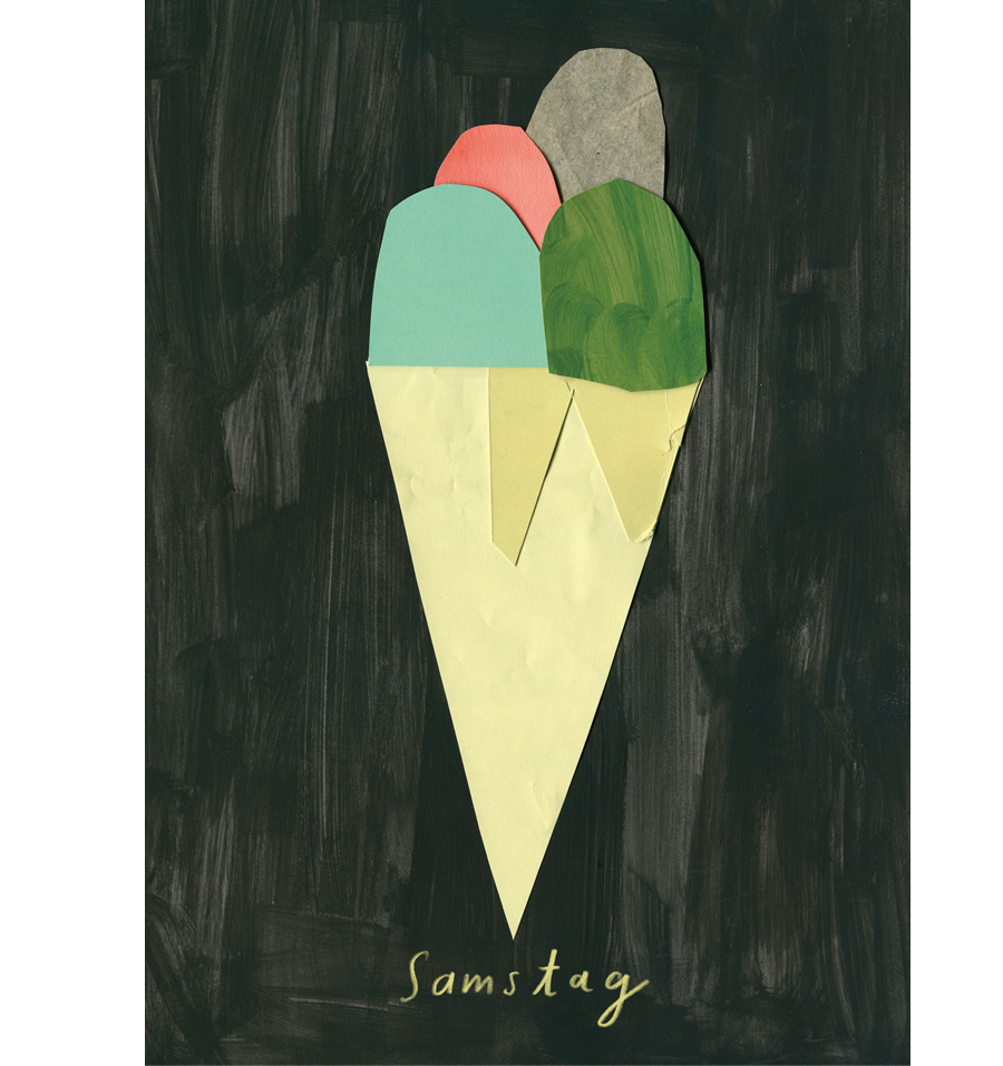 Samstag Eis Postkarte